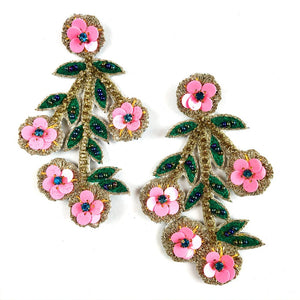 Allie Beads Cherry Blossom Earrings