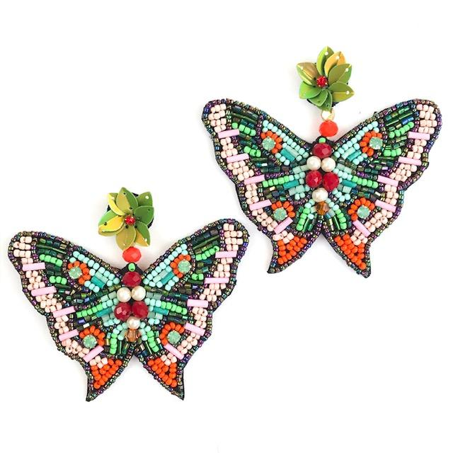 Allie Beads Butterfly Earrings