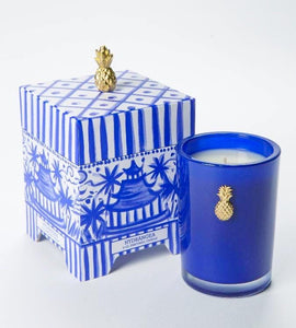 Tom Tom Blue Hydrangea Pagoda Box Candle