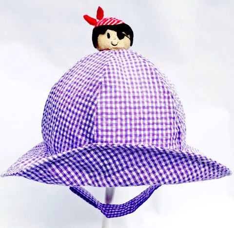 ECU Pirate Gingham Hat