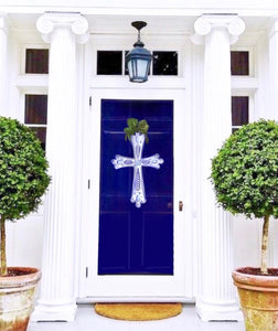 Tom Tom Blue & White Cross Door Hanger