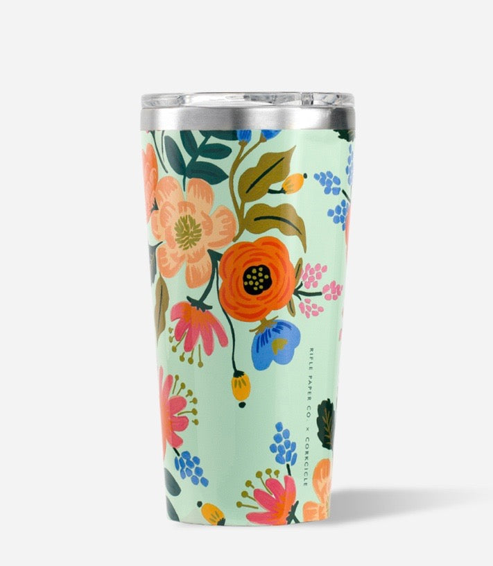 Rifle Paper Co. + Corkcicle Tumbler (Lively Floral)