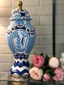 Dana Gibson Ginger Jar in Blue Summer Palace