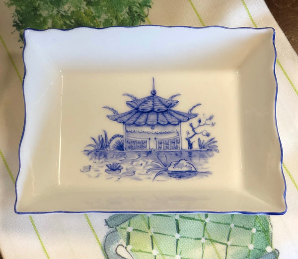 Handpainted Porcelain Pagoda Tray