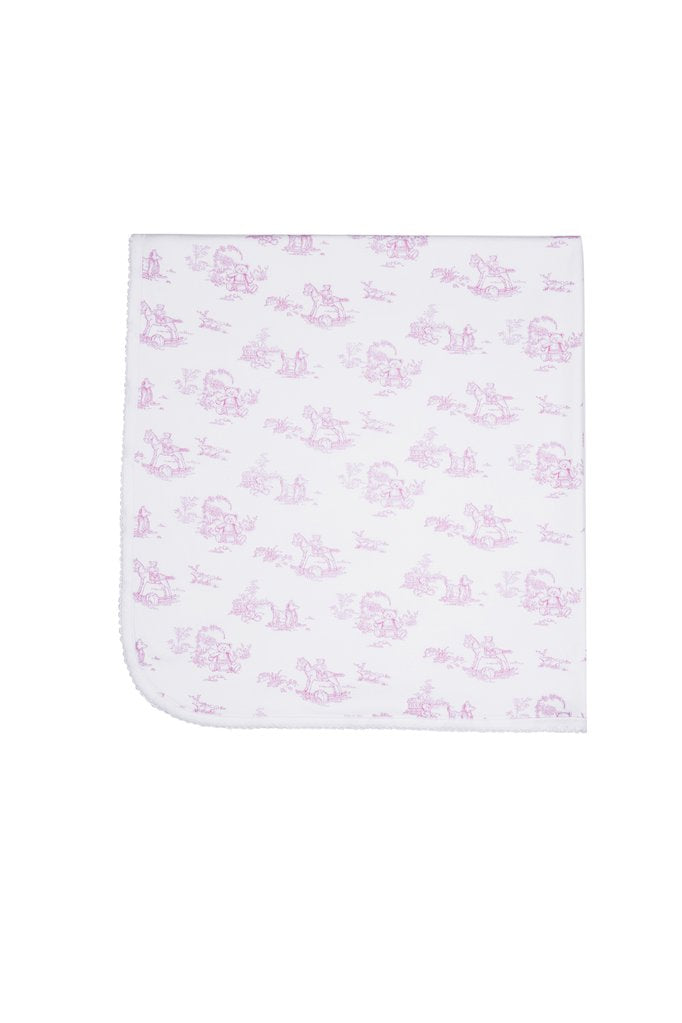Pink Toile Baby Blanket