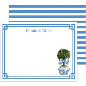 WH Hostess Striped Topiary Flat Notecards
