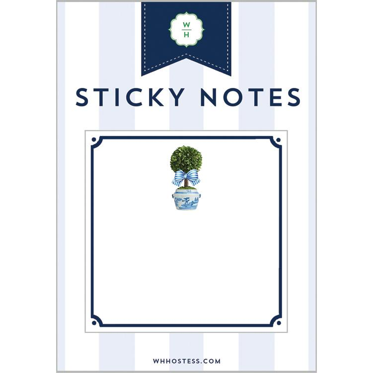 WH Hostess Striped Topiary Sticky Notes