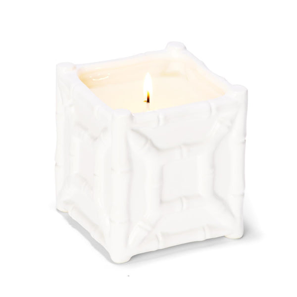Faux Bamboo Fretwork Chinoiserie Candle