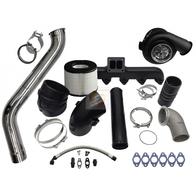 2nd Gen Swap Kit and Billet S475 Turbocharger For 3rd Gen 5.9L Cummins 2003-2007 Fleece Performance FPE-593-2G-75-CM