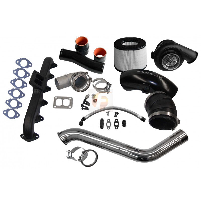 2nd Gen Swap Kit and Billet S468 Turbocharger For 3rd Gen 6.7L Cummins 2007.5-2009 Fleece Performance FPE-673-2G-68-CM