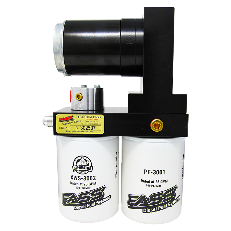 TITANIUM SIGNATURE SERIES DIESEL FUEL LIFT PUMP 165GPH DODGE CUMMINS 5.9L 1998.5-2004 (TS D08 165G)(NOTE: IF THE TRUCK HAS BEEN RETROFITTED WITH AN IN-TANK PUMP, YOU WILL NEED TO PURCHASE A TS D07 165G KIT.)