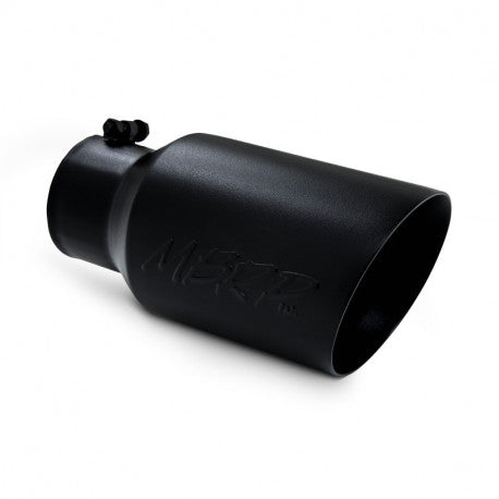 "MBRP 4x6x12 BLACK ANGLED EXHAUST TIP (4"" INLET, 6"" OUTLET) T5072BLK"