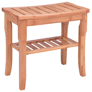 Bamboo Shower Chair, Wood Bench Seat
