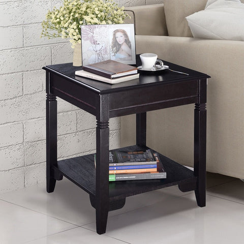 Modern American Arts End Table w/ 2nd Shelf