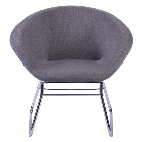 Minimal Modern Gray Accent Chair, Leisure Arm