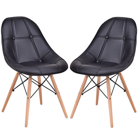 Dining Side Chairs, Set of 2  Midcentury Modern