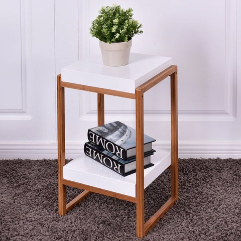 Bamboo 2-Tiered Side\End Table, MFD & Bamboo