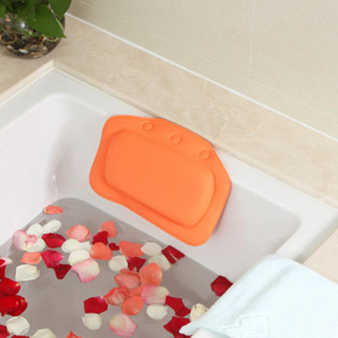 Relax with Home Spa Bath Pillow, with Suction Cups