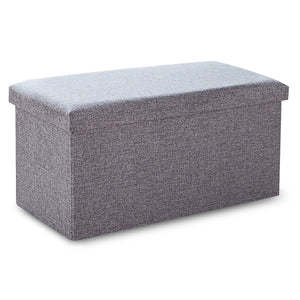 Household Portable 110L Storage Box Sofa Comfortable Chair Sofa StoolS Ottomans Pouf Storage Poef Foot Stool 5 Colors Furniture