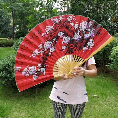 Silk and Wood Decorative Folding Fans