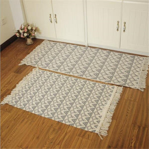 Cotton Soft Tassel Home Carpets For Living Room Bedroom Kid Room Decorate Home Carpet Floor Door Mat Simple Nordic Area Rug Mat