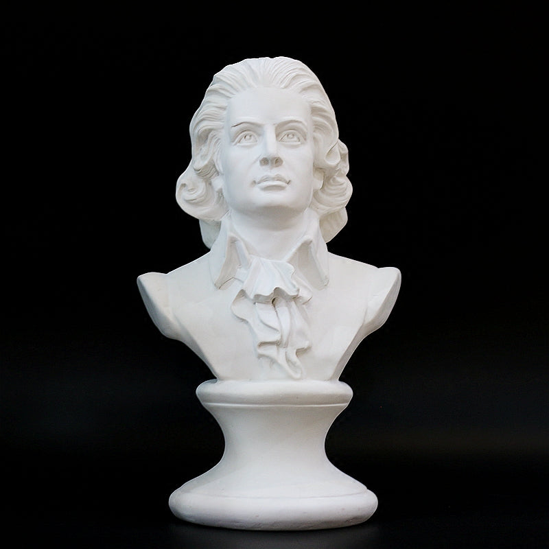 Detailed Mozart Bust Figurine High Quality Resin