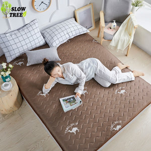 Slow Forest 21% Natural Latex Queen Mattress Tatami Mat 10cm Thickness Knitted Cotton Student Dormitory Bed Mat Without Pillow