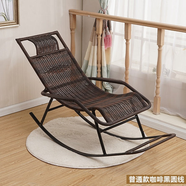 Creative recliner home elderly rocking chair living room balcony wicker chair adult outdoor easy chair WF601943