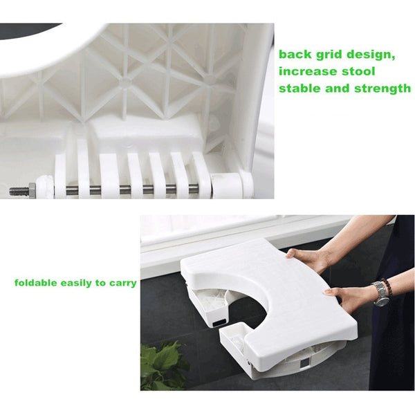 Hot Multi-Function Folding Toilet Stool Bathroom Potty Toilet Squat Proper Posture LSK99