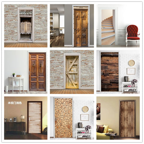 Self-Adhesive Waterproof Door Mural 2 Piece