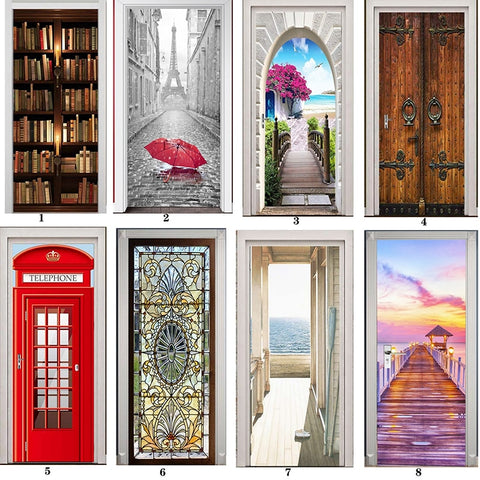 Self-Adhesive Printed 3-D Doorway Sticker 2 Piece