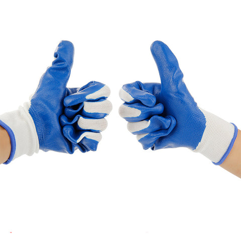 Working Gloves Rubber Double Comfortable gardening for males or females gloves rubber protection hand anti-acid gloves