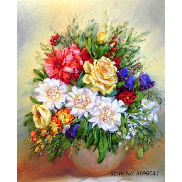 Painting By Numbers Frameworks Coloring By Numbers Home Decor Pictures Flowers Vase Decorations RSB8169