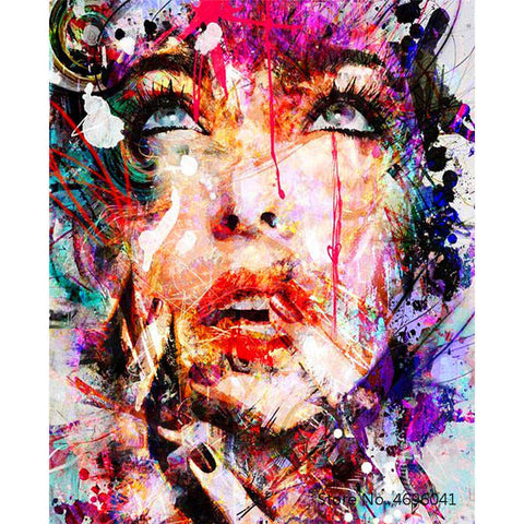 Painting By Numbers Frameworks Coloring By Numbers Home Decor Pictures Figure Painting Decorations RSB8457