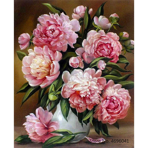 Painting By Numbers Frameworks Coloring By Numbers Home Decor Pictures Flowers Vase Decorations RSB8421