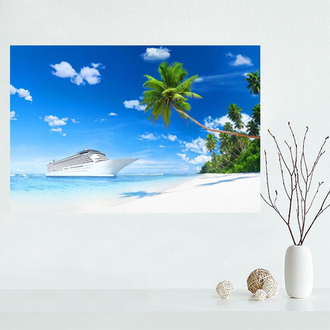 Silk Fabric Beach Print Posters