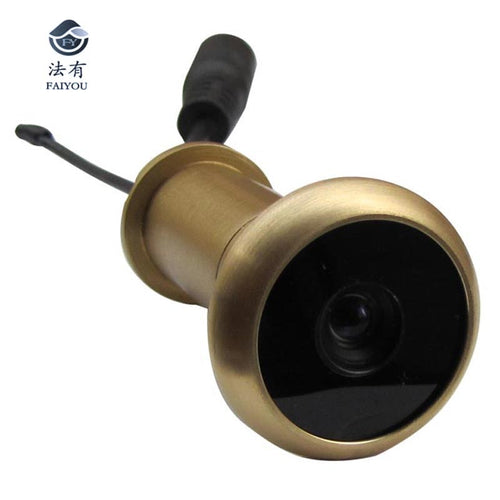 5.8G Wireless Door Peephole Camera Lens Pure Brass Material Door Camera 13.8mm Diameter 90 Degree VOA And 0.008lux 720X480pix Ab
