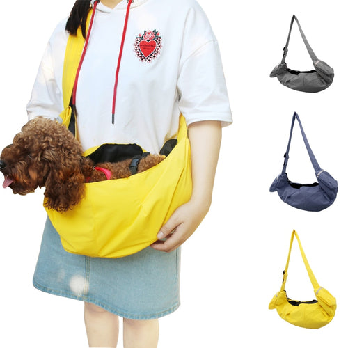 Shoulder Bag Soft Sling Backpack Carrier for Small Pets Cat Dog Soft Canvas Blank Outdoor Soft Pet Carrier Pocket Cute Dog Sling Bag For Small Animal Cat Travel Bag
