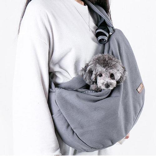 Shoulder Bag with Pocket for Small Pets Cat Dog Portable Carrying  Outdoor Use Pet Bag Medium Soft By TPFOCUS