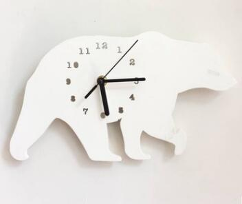 Nordic Style Nursery & Kids Decor Clock Swan Bear Cloud Wall hanging Wood Toys Model Baby Kid Room Furnish Artic Home Decoration