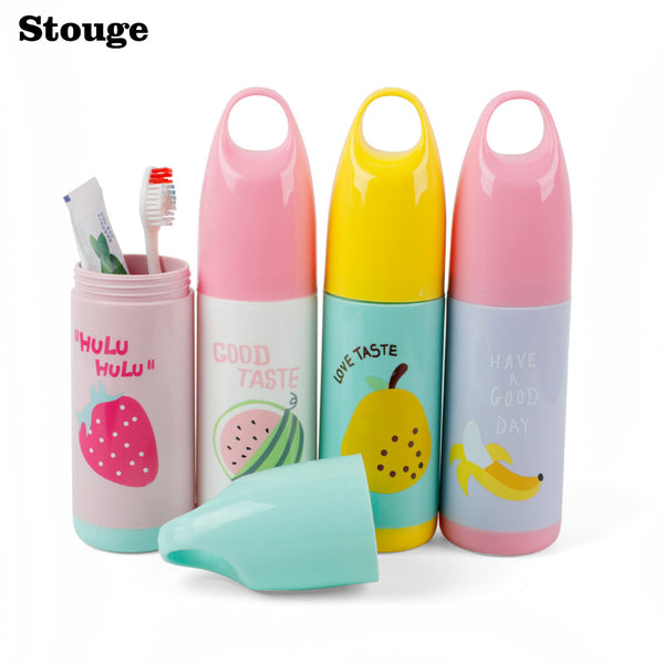 Stouge 1PC Portable Travel Toothbrush Storage Box Case Toothbrush Holder Toothpaste Towel Cup Organizer Toothbrush Box Container