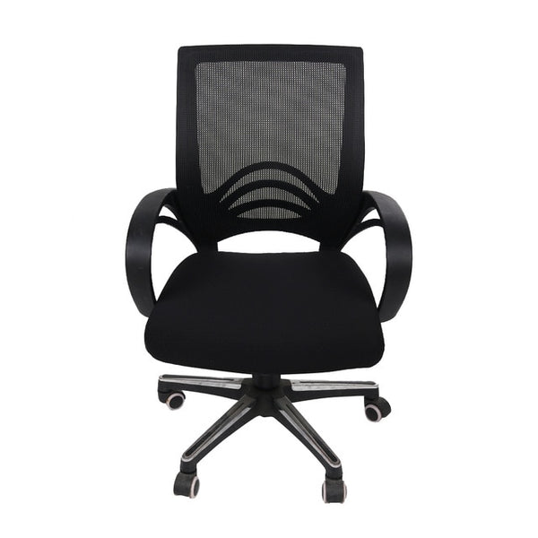 Solid Color Kitchen Office Stretch Chair Cover Solid Seat Protector Elastic Seat Case Dining Computer Slipcover Living Room