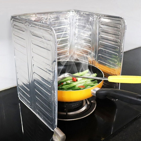 Oil Deflector Foil Oil Block Oil Barrier Stove Cooking Heat Insulation Anti - Splashing Oil Baffle Kitchen Utensils Supplies