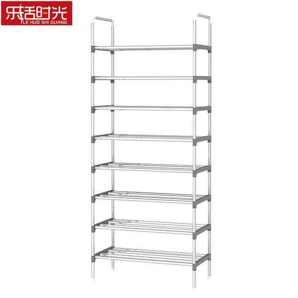 9 Tier Iron Shoe Rack with Handrail Simple Assembled Hallway Shoes Shelf Standing Furniture Saving Space Shoe Organizer