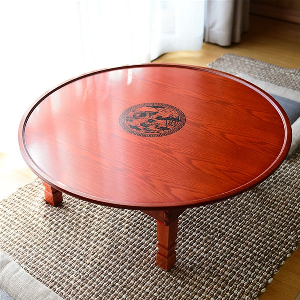 Round Korean Style Coffee Table