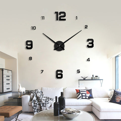 Large Self-Adhering Quartz Wall Clock