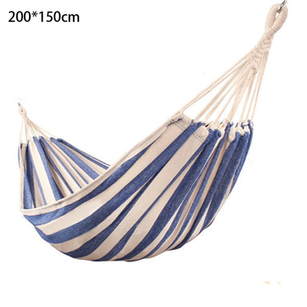 Thicken Canvas Garden Swing Hammock Outdoor Single 2 person Dormitory Camping Hammocks 200*80 200*100 200*150cm Hanging Chair