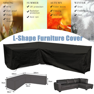 Waterproof L Shape Corner Outdoor Sofa Cover 3Mx3M Rattan Patio Garden Furniture Protective Cover All-Purpose Dust Covers