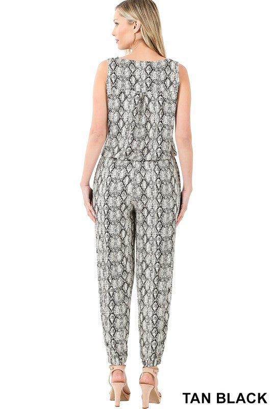 Animal Prints Jumpsuit
