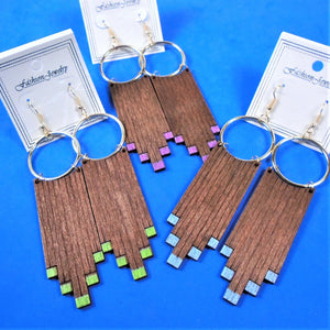 Wood Fingers Earrings